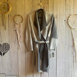 Alfani Long Cardi/Jacket with Belt Multi-Gray NWT